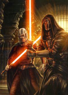 Darth Malek (L) and Darth Revan (Rt): Sith Lords of the Old Republic (Fallen Jedi)