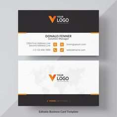 Orange visit card free vector Free Vector Free Printable Business Cards, Make Business Cards, Beauty Business Cards, Business Card Psd, Modern Business Cards, Business Card Design, Vector Free, Vector Vector, Vectors