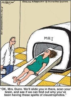 I now understand why they sedate patients for an MRI ! Mark my words....never again!