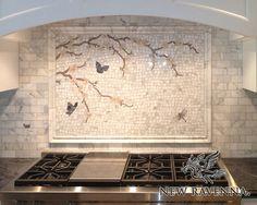 Ordinaire Plum Blossom With Butterflies | New Ravenna Mosaics At  Http://newravenna.photoshelter. Mosaic BacksplashBacksplash IdeasStone  BacksplashKitchen ...
