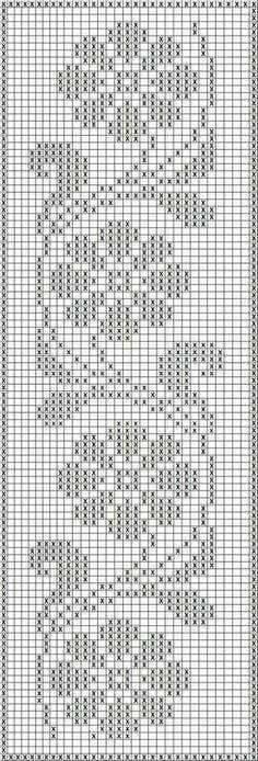 Crochet Edging Free Patterns Archives - Beautiful Crochet Patterns and Knitting Patterns - Filet Crochet Charts, Crochet Borders, Crochet Cross, Knitting Charts, Thread Crochet, Knitting Patterns, Crochet Stitches, Filet Pattern Crochet, Crochet Curtain Pattern