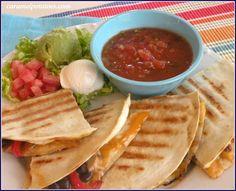 Fajita-Style Quesadilla.  Cook once Eat twice...turn leftover fajitas into quesadillas.