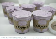 Can´t ford flying Milmade but serving ice cream in a plastic container with a pretty label is a good idea