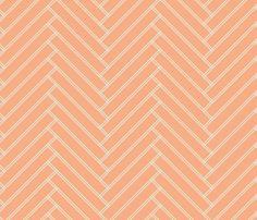 herringbone salmon fabric by ravynka on Spoonflower - custom fabric
