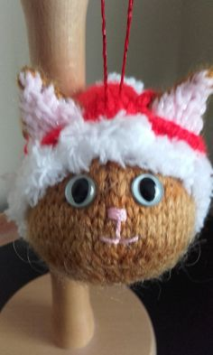Ginger Cat Christmas tree decoration ginger hand by Stewscraft