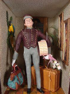 Hotel Lobby Bellhop 1:12 Scale Miniature | Hotel Lobby Bellh… | Flickr - Photo Sharing!
