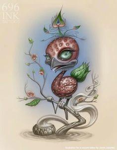 Illustration for a tatoo {custom} :: Jason Jacenko
