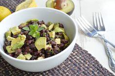 Black Bean Salad with Lemon Herb Dressing