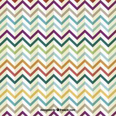 Retro zig zag colorful design Free Vector