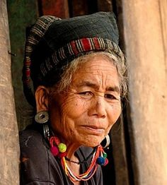 Stock Photos, Vectors and Royalty Free Images from Wise Women, Old Women, Tribal Women, Laos People, People Of The World, Festival Wear, Southeast Asia, Traditional Outfits, Portraits