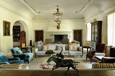 Club de la Puerta de Herro Isabel Lopez, Beautiful Interiors, Dining Area, Oversized Mirror, Conference Room, Living Room, Nice, Table, Furniture