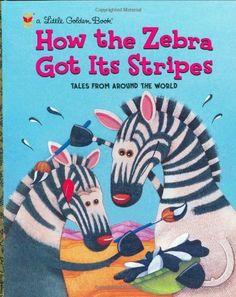 How the Zebra Got Its Stripes (Little Golden Book) by Justine Fontes, http://www.amazon.com/dp/0307988708/ref=cm_sw_r_pi_dp_cu0brb07D1HRX