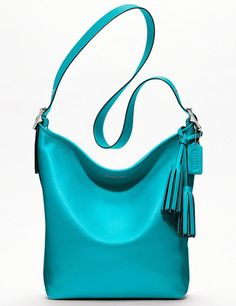 Everything Turquoise: Coach Legacy Leather Duffle Bag.  I have this purse and love it!