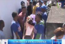 en tan solo 24 horas 16 personas han perdido la vida en Accidentes #Video