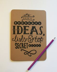A5 Blank Notebook  My notes thoughts ideas lists by stephsayshello, £2.80