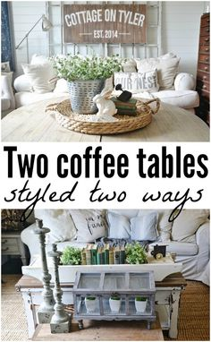 Two coffee tables st