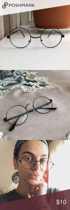 e7acce68de Nerd Glasses 🧐🤓😊 Vintage glasses • unisex • black round frame • clear  lenses