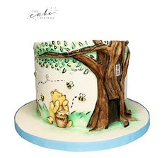 Winnie the pooh celebration cake. Call or email to order your celebration cake today. Click the link below for more information. Winnie The Pooh Cake, Disney Winnie The Pooh, Disney Themed Cakes, Cakes Today, Celebration Cakes, Disney Inspired, Custom Cakes, Dessert Table, Amazing Cakes