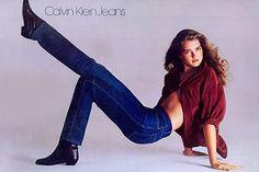Brooke Shields dans la campagne Calvin Klein Jeans shootée par Richard Avedon en 1980.