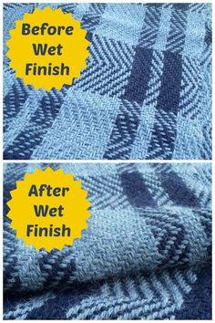 What a difference wet finishing makes! It's scary to dunk your handwovens into water for the first time, but it's this process that turns weaving into cloth. Click to learn more!