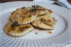 Badgertails ~ Homemaker: Butternut Squash Ravioli with a Sage & Butter Sauce
