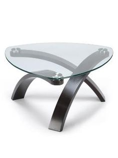 Shop for the Belfort Select Allure Cocktail Table With Glass Top and Bent Wood Legs at Belfort Furniture - Your Washington DC, Northern Virginia, Maryland and Fairfax VA Furniture & Mattress Store Glass End Tables, Sofa End Tables, Occasional Tables, Triangle Coffee Table, Belfort Furniture, Wood Furniture, Furniture Showroom, Office Furniture, Table Cafe