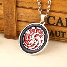 Game of Thrones House Targaryen Pendant Necklace Only $6.99 Free Shipping worldwide if you like it share it with your friends ! Link in BIO section ! #gameofthrones #gameofthronesfamily #gameofthroneshbo #gameofthronesfanart #gameofthronesfan #gameofthron