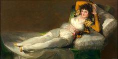 Francisco Goya, Maja vestita, olio su tela, 97 x 190 cm, Museo del Prado Francisco Goya, Rembrandt, Goya Paintings, Local Painters, Culture Art, Franz Marc, Painting Competition, Spanish Painters, Art Database
