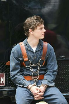 BTS Asylum. Evan Peters as Kit.