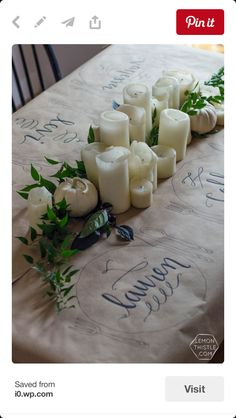 How to write on table runner