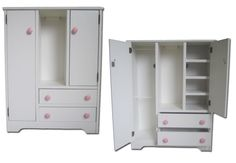 Doll Wardrobe American Made Fits 18 Doll Furniture Storage Closet Girl Armoire American Girl Furniture, Girls Furniture, Doll Furniture, Furniture Storage, Repurposed Furniture, Doll Storage, Closet Storage, Locker Storage, Doll Closet