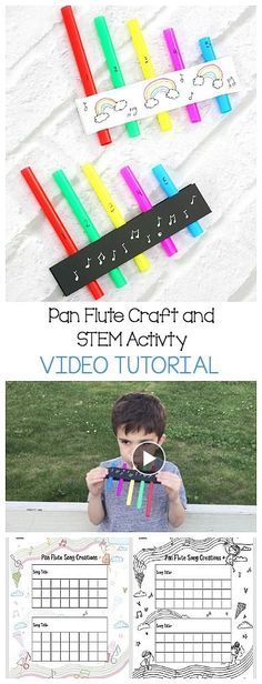 26 Ideas music instruments crafts for kids free printable for 2019 Math Activities For Kids, Science For Kids, Kids Learning, Homemade Musical Instruments, Music Instruments, Projects For Kids, Crafts For Kids, Instrument Craft, Pan Flute
