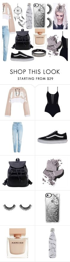"""""""It's me #12"""" by peterkonijn ❤ liked on Polyvore featuring Topshop, Zimmermann, Vans, Bobbi Brown Cosmetics, Velour Lashes, Casetify, Narciso Rodriguez, S'well and Pink Box"""