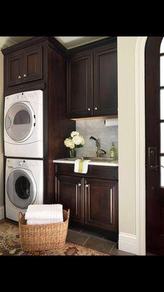 Love The Dark Cabinets