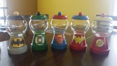 Jars I made for sons justice league  party