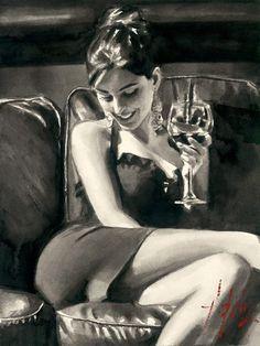 Painting by Artist Fabian Perez