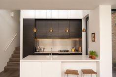 meubles cuisine ikea américaine blanc mat wengé suspensions laiton