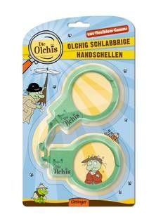 Die Olchis: Olchig schlabbrige Handschellen. Beim Grätenfuß, Sie sind festgenommen! Mit den olchigen Handschellen werden Gauner dingsfest gemacht. Ab 4 Jahren.