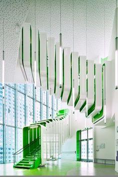 "staircase Primary School & Nursery in the ""Claude Bernard"" ZAC / Atelier d'Architecture Brenac-Gonzalez"
