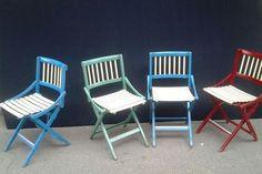 Fratelli Reguitti 4 sedie colorate '50 outdoor di Box900 su Etsy