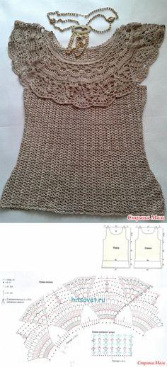 Романтичная кофточка с воланом крючком - Вязание - Страна Мам