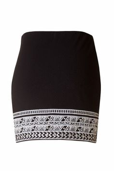 Opposing Forces Pearl Embellished Skirt - Black + White