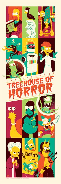 The Simpsons – Treehouse of Horror Poster by Dave Perillo