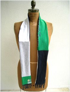 Upcycled Notre Dame Fighting Irish T Shirt Scarf / Navy by ohzie