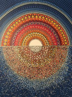 Possible steampunk art Mandala Doodle, Mandala Canvas, Mandala Dots, Dot Art Painting, Mandala Painting, Stone Painting, Aboriginal Art Australian, Mandela Art, Pebble Art