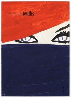 René Gruau | Cover for International Textiles No. 338, 1961 – I, 1961