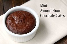 Mini Almond Flour Chocolate Cakes, an easy chocolate gluten free cake recipe. Delicious and one of the best little chocolate cakes!