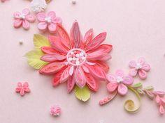 小紙クラフト - Kogami Craft Quilling Flowers, Quilling Cards, Paper Quilling Designs, Quilling Ideas, Flower Petals, Projects To Try, Paper Crafts, Quilts, Card Ideas