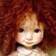 Pepper Annie #redhairdontcare #redhead #artdoll #sculpted #doll #bjd #nikkibritt #nikkibrittstudios #artcollective #artexhibition #popart #popsurrealism #freckles
