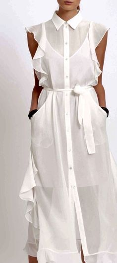 Swans Style is the top online fashion store for women. Shop sexy club dresses, jeans, shoes, bodysuits, skirts and more. Nice Dresses, Casual Dresses, Fashion Dresses, Summer Dresses, White Fashion, Look Fashion, Womens Fashion, Dress Skirt, Shirt Dress